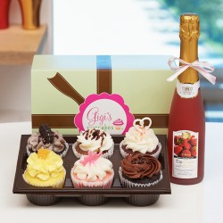 Gigi's 6 cup cakes with Champagne(15100702)