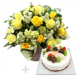 A Cake + Flower basket 3 (ONB-093)