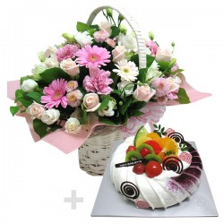 A Cake + Flower basket 5 (ONB-095)