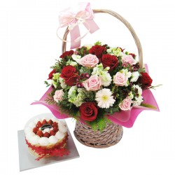 A Cake + Flower basket 7 (ONB-097)