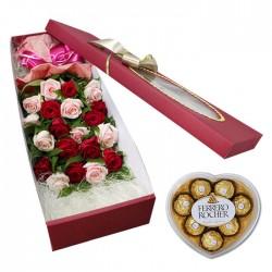 Mixed Rose Box 1 +Chocolates(15001013)