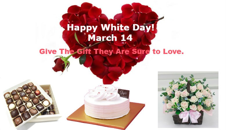 Time to order for White Day's gifts to Some one in South Korea.