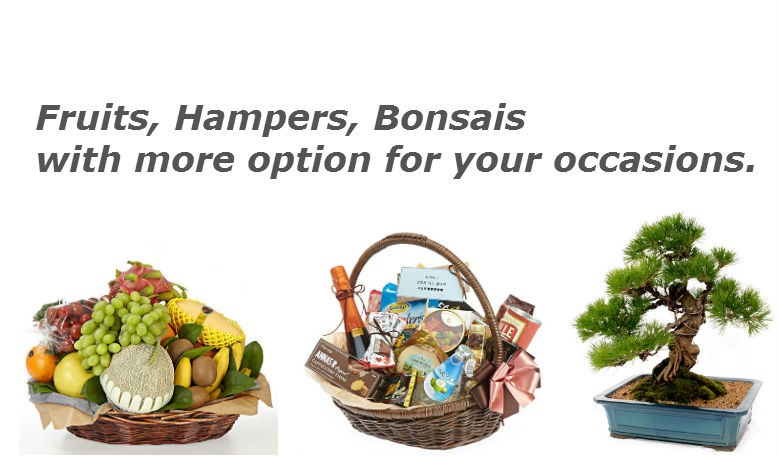Gifts as Fruits, Hampers, Bonsai for your specially loved ones in Korea.
