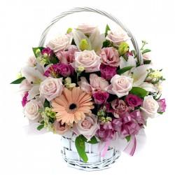 Pink Rose Basket 1(OFA-015)