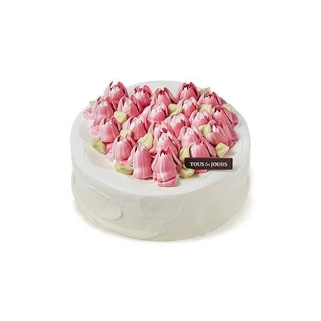 Flower Heart Cake (HAL41942)