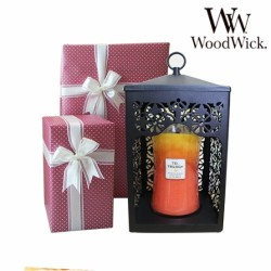 Woodwick Candle 1 Large + Candle Warmer Gift set
