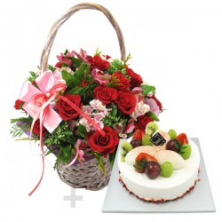 A Cake + Flower basket 4 (ONB-094)