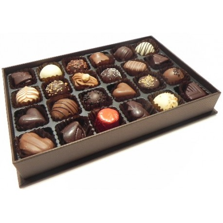 Linen Brown 24 Chocolates (2003022)