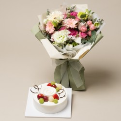 A Cake + Flower bouquet 2 (onv-057)