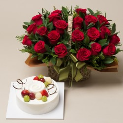 A Cake + Flower basket 1 (ONB-091)