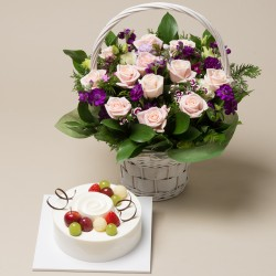 A Cake + Flower basket 9 (ONB-099)