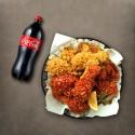 BHC Fried Chicken Half + Seasoned Spicy Chicken Half + Cola 1.25L