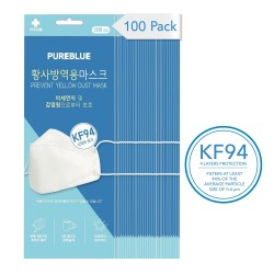 PURE BLUE KF94 Certified Face Mask for Adult 100/Pack - Made in KOREA