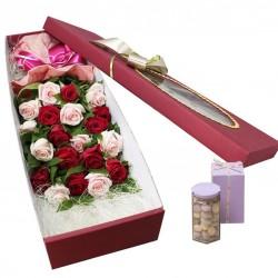Mixed Rose Box 1 + Candy (2102262)