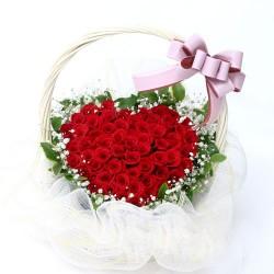 Red Roses heart Basket(OFA-047)